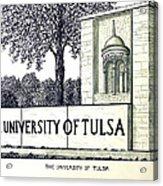 The University Of Tulsa Acrylic Print
