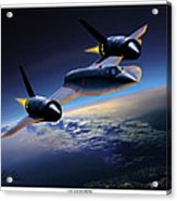 The Untouchable  Sr-71 Blackbird Acrylic Print
