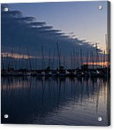 The Urge To Sail Away - Violet Sky Reflecting In Lake Ontario In Toronto Canada Acrylic Print