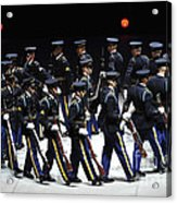 The U.s. Army Drill Team Performs Acrylic Print