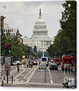 The Us Capitol Building From Pennsylvania Avenue Acrylic Print
