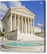 The Us Supreme Court Building Acrylic Print