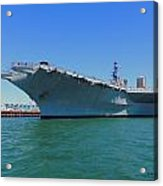The Uss Midway Acrylic Print by Judy  Waller