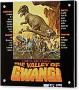 The Valley Of Gwangi, Us Poster Art Acrylic Print