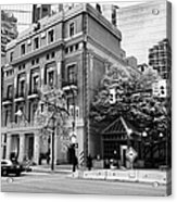 the vancouver club building west hastings street heritage district Vancouver BC Canada Acrylic Print by Joe Fox
