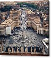 The Vatican St. Peter's Square Acrylic Print