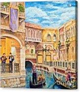 The Venetian Canal  Acrylic Print