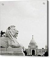 The Victoria Memorial In Calcutta Acrylic Print