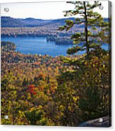 The View From Bald Mountain - Old Forge New York Acrylic Print