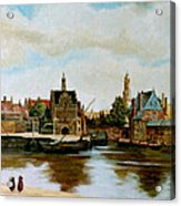 The View Of Delft Acrylic Print