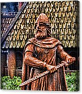The Viking Warrior Statue  Acrylic Print by Lee Dos Santos