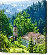 The Village Church - Impressions Of Mountains And Forests Acrylic Print