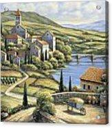 The Village Acrylic Print by John Zaccheo