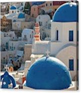 The Village Of Oia Santorini Cyclades Acrylic Print