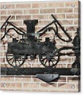 The Vintage Fireman Acrylic Print