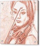 The Violinist Acrylic Print