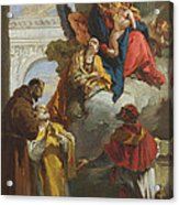The Virgin And Child Appearing To A Group Of Saints Acrylic Print