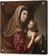 The Virgin And Child Acrylic Print by Jan van Bijlert or Bylert