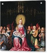 The Virgin And Child Surrounded Acrylic Print