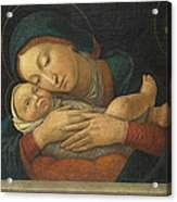 The Virgin And Child With Four Saints Acrylic Print