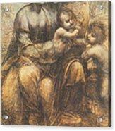 The Virgin And Child With Saint Anne And The Infant Saint John The Baptist Acrylic Print by Leonardo Da Vinci