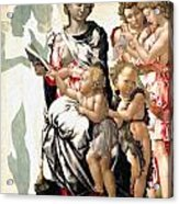 The Virgin And Child With Saint John And Angels Acrylic Print