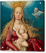 The Virgin As Queen Of Heaven Suckling The Infant Christ Acrylic Print