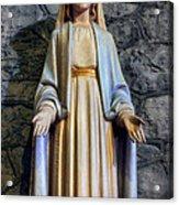The Virgin Mary Acrylic Print by Ian Mitchell