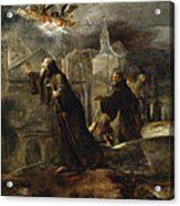 The Vision Of St Francis Of Paola Acrylic Print