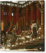 The Visit Of The Queen Of Sheba To King Solomon Acrylic Print