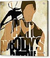 The Walking Dead Inspired Daryl Dixon Typographic Artwork Acrylic Print by Ayse Deniz