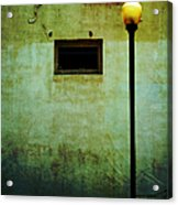 The Wall And The Lamppost Acrylic Print