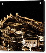 The Walls Of Albarracin In The Summer Night Spain Acrylic Print