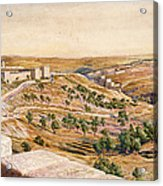 The Walls Of Jerusalem, 1869 Acrylic Print by William Holman Hunt