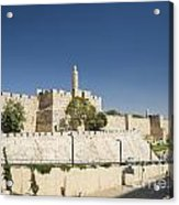 The Walls Of Jerusalem Old Town Israel Acrylic Print