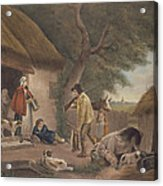 The Warrener, Engraved By William Ward 1766-1826, Pub. By H. Morland, 1806 Mezzotint Engraving Acrylic Print