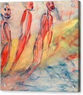 Naked Bodies Playing With Their Lively Waterbus  Acrylic Print