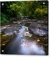 The Waters Of The Eureka Waterfalls. Mauritius Acrylic Print
