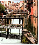 The Waterways Of  Old Annecy Acrylic Print