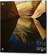 The Wave Reflected Beauty 3 Acrylic Print