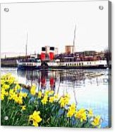 The Waverley Sails Down The River Clyde. Acrylic Print