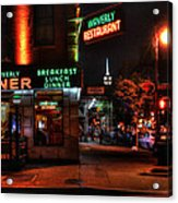 The Waverly Diner And Empire State Building Acrylic Print