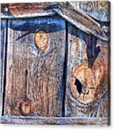 The Weathered Abstract From A Barn Door Acrylic Print