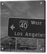 The West Is The Best Acrylic Print