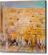 The Western Wall Acrylic Print