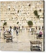 The Western Wall In Jerusalem Israel Acrylic Print