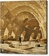 The Wheat Store, Rue De Viarmes, Engraved By I. Hill Coloured Engraving Acrylic Print