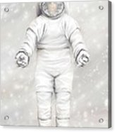 The White Astronaut Acrylic Print by Tharsis Artworks