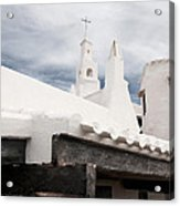 Binibeca Vell In Menorca Is A Small Fishermen Villa With The Taste Of Past Times - The White Chapel Acrylic Print