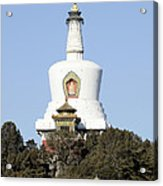 The White Dagoba On Qionghua Island - Beijing China Acrylic Print